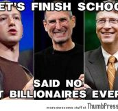LET'S FINISH SCHOOL…