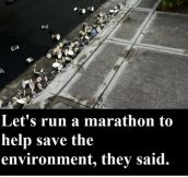 Let's run a marathon to help save the environment