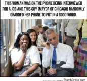 Mayor of Chicago is a nice guy