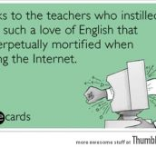 Thanks to the teachers…