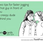 Two tips for faster jogging