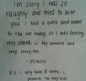 Ridiculous, Stupid And Funny Apology Notes (10 Pics)