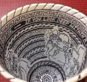 Insane Skills: Awesome Art Found On A Styrofoam Cup (11 Pics)