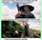 Getting real tired of your crap, Gandalf.