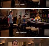 Honest guy Sheldon Cooper…
