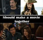 Robert Downey Jr. and Johnny Depp should make a movie together