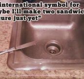 The international symbol for..