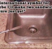The international symbol for..