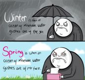 Winter vs. spring…