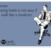 Women wearing heals is not sexy