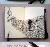 Incredible Moleskine drawings…