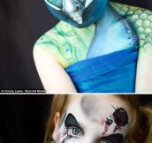 Elaborate children's face make-up…