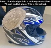 Always wear a helmet…