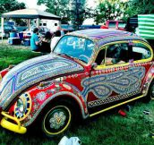 Neat hand-painted car at What Festival in Wyoming…
