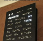 A very special kind of clock…