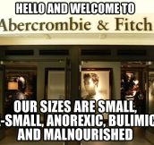 Welcome to Abercrombie & Fitch…
