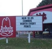 Arby's combos…