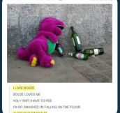 Barney's wild night…