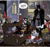 Batman is worried…