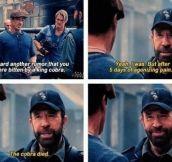 Chuck Norris makes a Chuck Norris joke…