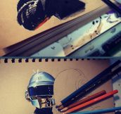 An amazing Daft Punk portrait…
