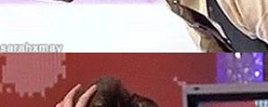 David Tennant gets his hair ruffled…
