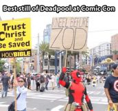Deadpool at Comic-Con…