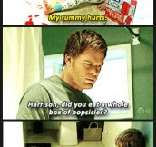 Dexter freaks out…