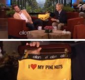 From Ellen to Chris Pine…