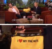 From Ellen to Chris Pine…