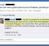 If you want a good quote on Facebook…