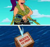 Leela goes fishing…