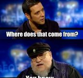 George R. R. Martin on writing women…