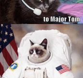 Ground control to Major Tom…