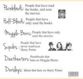 Harry Potter taxonomy…