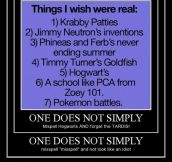 Things I wish were real…