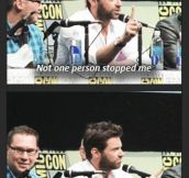 Hugh Jackman at Comic-Con…