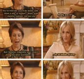 JK Rowling has a sense of humor…