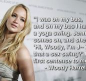 What happens when you meet Jennifer Lawrence for the first time…