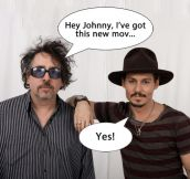 This sums up Johnny Depp and Tim Burton's relationship…