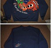 Finding Nemo sweatshirt…