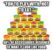 Play-Doh logic…