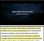 Sean Bean dies in everything he's in…
