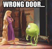 Wrong door…