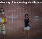 A different way of announcing you're going to have a baby…
