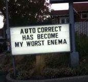 Damn you autocorrect…