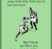 Easy way to know who's your best friend…