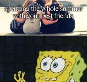 Spending summer with friends…