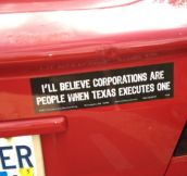 My new favorite bumper sticker…