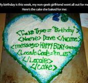Geek cake…